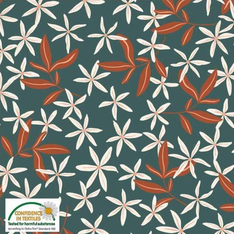 Stof of Denmark Autumn Floral Avalana Jersey Fabric
