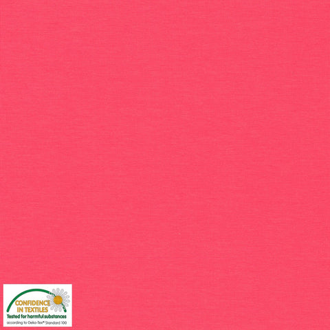 Stof of Denmark Coral Pink Solid Avalana Jersey Fabric