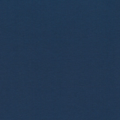 Stof of Denmark Dark Blue Solid Avalana Jersey Fabric
