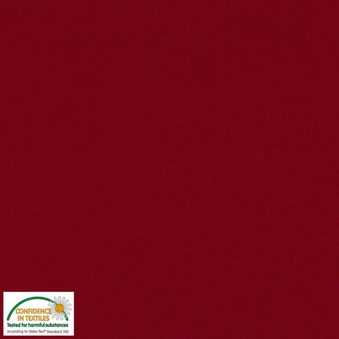 Stof of Denmark Dark Red Solid Avalana Jersey Fabric