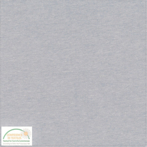 Stof of Denmark Light Blue Melange Avalana Jersey Fabric