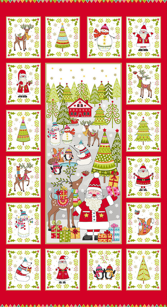 Makower Christmas 2019 Festive Fabric Panel