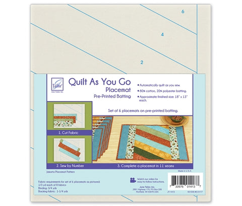 June Tailor Quilt-As-You-Go Jakarta Placemat Pre-Printed Wadding Pack