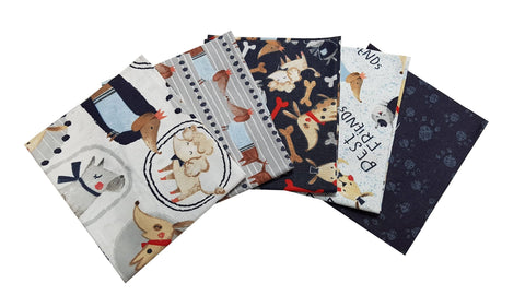 The Craft Cotton Co Dog Show Fat Quarter Pack