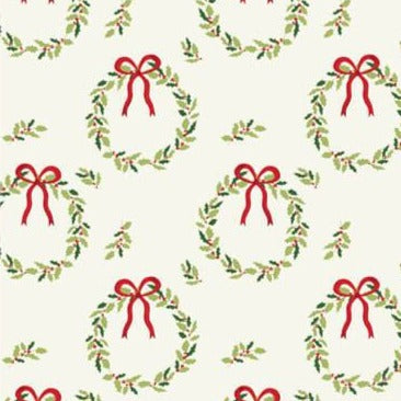 The Craft Cotton Co Traditional Christmas - Wreath  - 100% Cotton Fabric