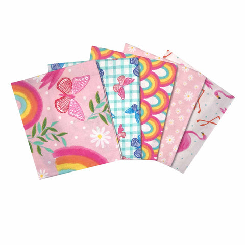 The Craft Cotton Co Flamingo Garden Fat Quarter Pack