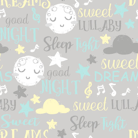 3 Wishes Goodnight - Dreams - 100% Cotton Fabric