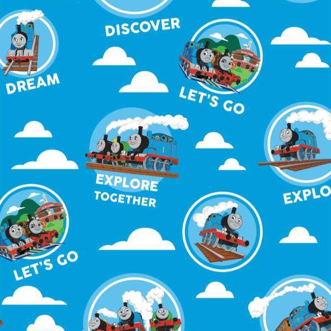 The Craft Cotton Co Thomas the Tank Engine - Explore Together - 100% Cotton Fabric