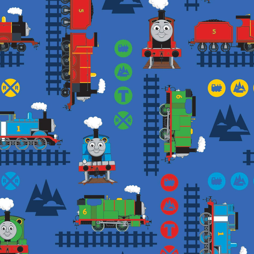 The Craft Cotton Co Thomas the Tank Engine - Train Adventure - 100% Cotton Fabric