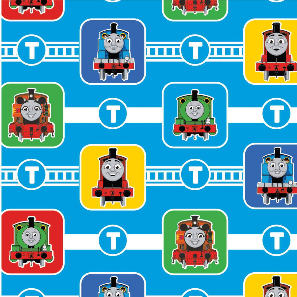 The Craft Cotton Co Thomas the Tank Engine - Character Blocks - 100% Cotton Fabric