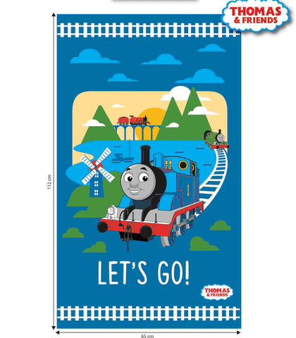 The Craft Cotton Co Thomas the Tank Engine Let's Go Fabric Panel