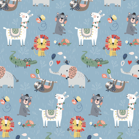 3 Wishes Wild About You - Wild Animals - 100% Cotton Fabric