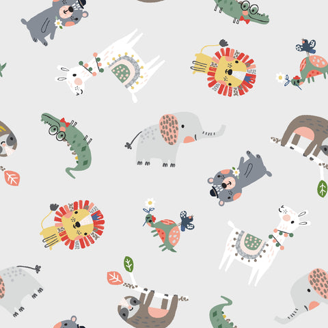 3 Wishes Wild About You - Animals Assorted - 100% Cotton Fabric