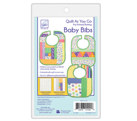 June Tailor Quilt-As-You-Go Baby Bibs Pre-Printed Wadding Pack