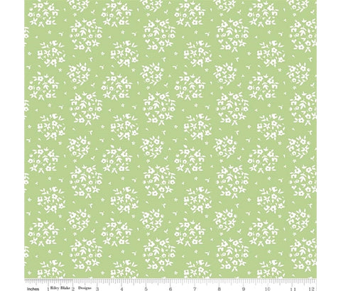 Riley Blake Summer Blush - Puff Green - 100% Cotton Fabric