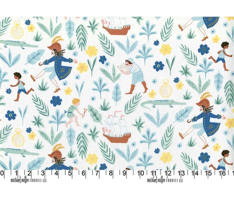 Michael Miller Peter Pan by Sarah Jane - Awfully Big Adventure - 100% Cotton Fabric