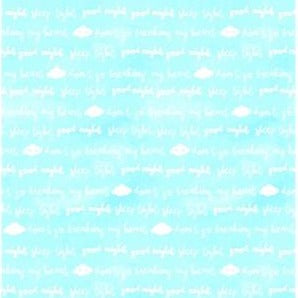 Clothworks Baby Safari - Word Clouds Blue Y2607-73