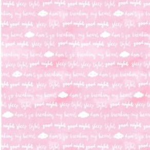 Clothworks Baby Safari - Word Clouds Pink Y2607-73