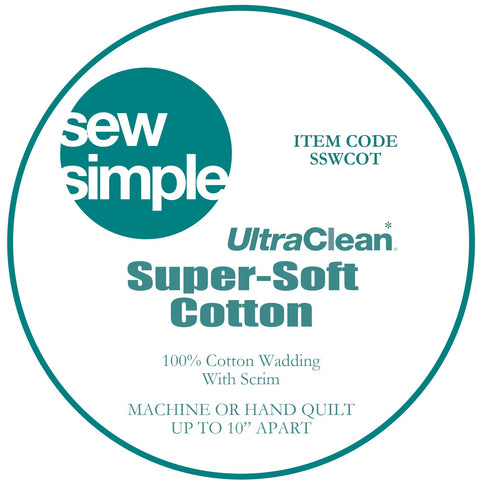 Sew Simple Super-Soft 100% Cotton Wadding