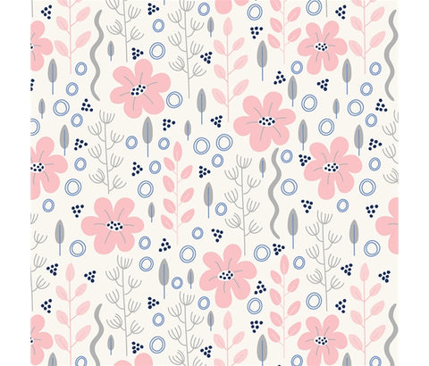 P&B Meadow Lane - Mini Meadow Pink - 100% Cotton Fabric