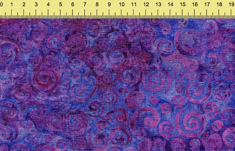 Sew Simple Stamped Batiks - 20-6-16 Purple - 100% Cotton Fabric