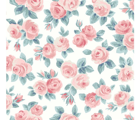 Liberty Flower Show Spring - Ascot Rose - Lasenby Quilting Cotton Fabric