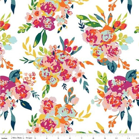 Riley Blake Garden Party - Main Cream - 100% Cotton Fabric