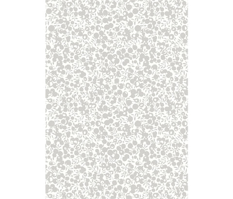 Liberty A Festive Collection - Wiltshire Shadow Silver (metallic) - Lasenby Quilting 100% Cotton Fabric