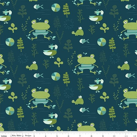 Riley Blake Ready Set Splash - Main Deep Sea - 100% Cotton Fabric