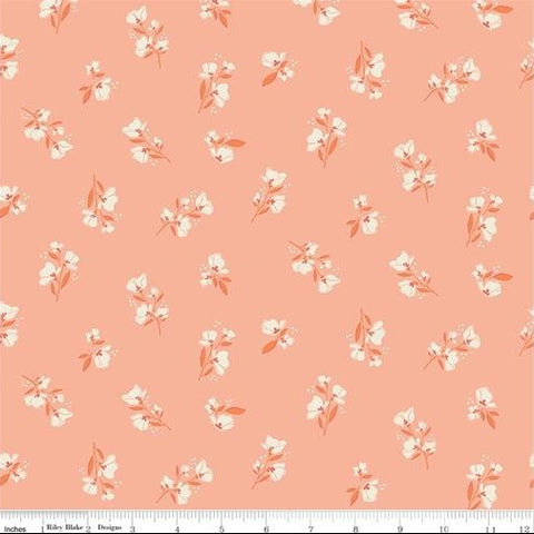 Riley Blake Midsummer Meadow - Blossom Salmon - 100% Cotton Fabric