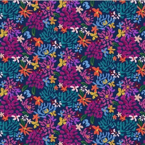 Clothworks Painted Petals - Y3072-53 - 100% Cotton Fabric