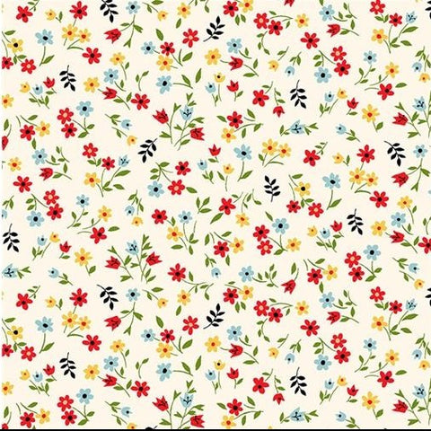 Michael Miller Playdate with Friends - Favourite Flower Multi - 100% Cotton Fabric