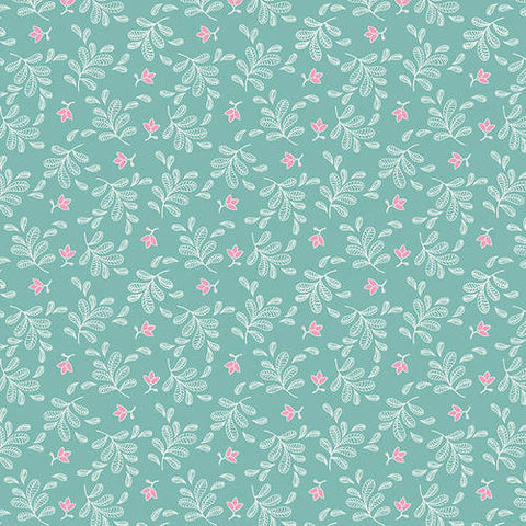 Studio E Boho Blooms - Tossed Sprigs Blue - 100% Cotton Fabric