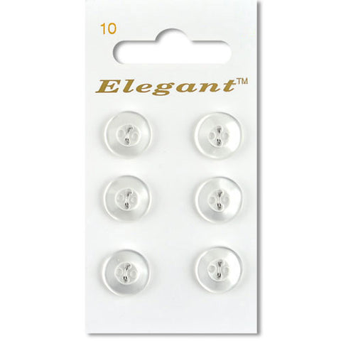 Sirdar Elegant Carded Buttons - Design 10 - 12mm White Shirt Buttons