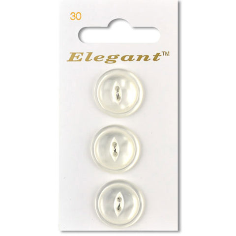 Sirdar Elegant Carded Buttons - Design 30 - 19mm Pearlised White