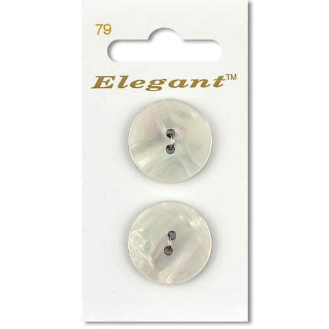 Sirdar Elegant Carded Buttons - Design 79 - 22mm Shell Effect