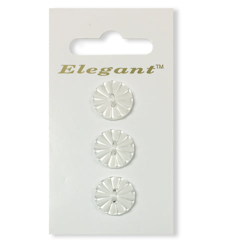 Sirdar Elegant Carded Buttons - Design 91 - 16mm Decorative Fan White