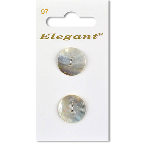 Sirdar Elegant Carded Buttons - Design 97 - 19mm Shell Natural