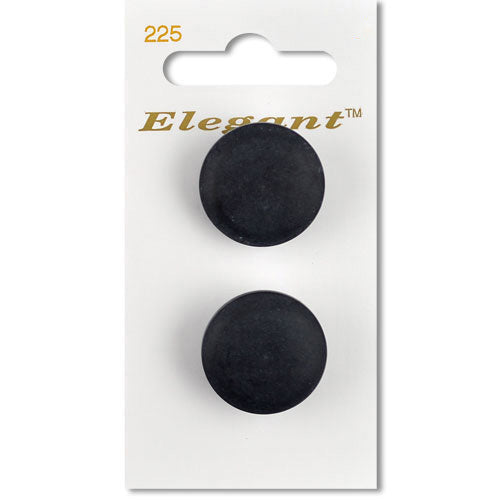 Sirdar Elegant Carded Buttons - Design 225 - 22mm Flat Black Shanked