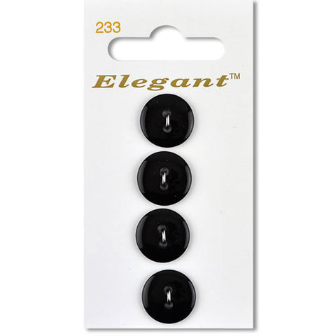 Sirdar Elegant Carded Buttons - Design 233 - 16mm Black Basic