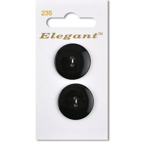 Sirdar Elegant Carded Buttons - Design 235 - 22mm Black Basic
