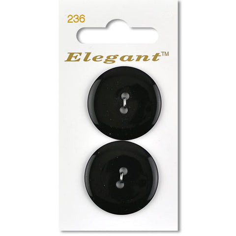 Sirdar Elegant Carded Buttons - Design 236 - 28mm Black Basic