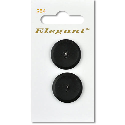 Sirdar Elegant Carded Buttons - Design 284 - 22mm Black/Grey Textured Centre