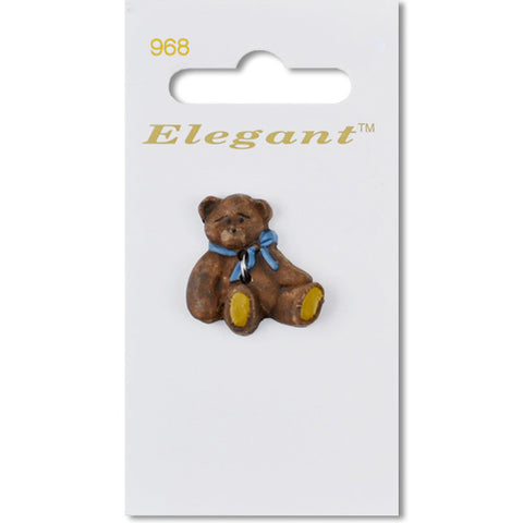 Sirdar Elegant Carded Buttons - Design 968 - 25mm Novelty Teddy Bear