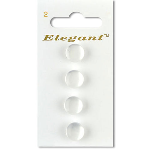 Sirdar Elegant Carded Buttons - Design 2 - 11mm Pearlised Shanked White