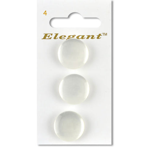 Sirdar Elegant Carded Buttons - Design 4 - 19mm Pearlised Shanked White