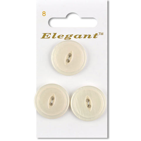 Sirdar Elegant Carded Buttons - Design 8 - 22mm Pearlised Ivory