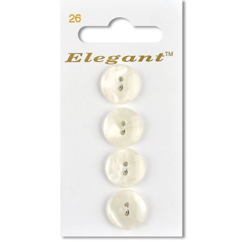 Sirdar Elegant Carded Buttons - Design 26 - 16mm Shell Effect