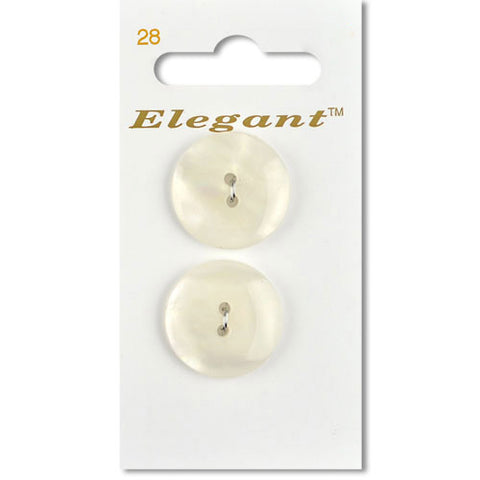 Sirdar Elegant Carded Buttons - Design 28 - 22mm Shell Effect