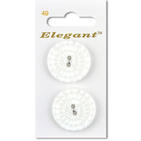 Sirdar Elegant Carded Buttons - Design 49 - 28mm Decorative Mosaic White